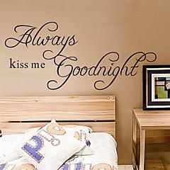 Küssen Sie mich immer gute Nacht Zitat Wandtattoo zooyoo2003 dekorative adesivo de parede entfernbarer Wandaufkleber