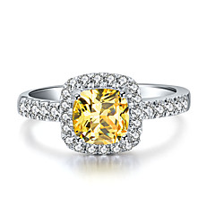 6*6mm 1CT Golden SONA Diamond Ring Engagement Jewelry Cushion Cut Sterling Silver Halo Paved Semi Mount Platinum Plated