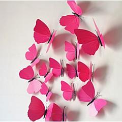 A háromdimenziós szimulációs pillangó falimatrica (12db)