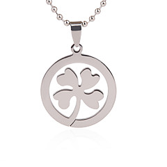 Gift Groomsman Customize Gift Men's Clover Pendant
