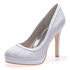 Women's Shoes Round Toe Stiletto Heel Lace Loafers Wedding Shoes More Colors available
