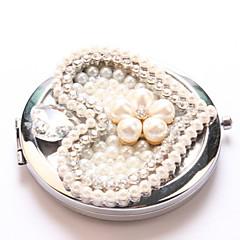 láska perla kapsa make-up zrcátko kosmetické ruční přenosné miroir espelho Espejo de maquiagem Bolso maquillaje bling