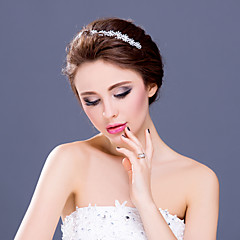 Women's / Flower Girl's Rhinestone / Alloy Headpiece-Wedding / Special Occasion / Casual Tiaras / Headbands 1 Piece Clear Round