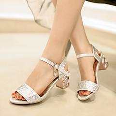 샌달 - 웨딩 / 사무실 & 커리어 / 드레스 - 여성의 신발 - 글레디에이터 - 레더렛 - 스틸레토 굽 - 블루 / 실버 / 골드