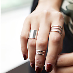 Jewelry Set Midi Rings Knuckle Ring Fashion Personalized Alloy Circle Silver Golden Jewelry For Party Daily Casual Sports 3pcs