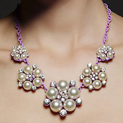 Women's Alloy Necklace Anniversary/Party/Special Occasion Imitation Pearl/Rhinestone