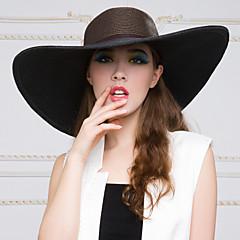 Mulheres Cestaria Capacete-Casual / Ao ar Livre Chapéus 1 Peça