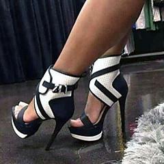 נעלי נשים - סנדלים - דמוי עור - עקבים - שחור - משרד ועבודה / שמלה / קז'ואל / מסיבה וערב - עקב סטילטו