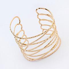 Women's European Style Fashion Metal Multilayer Alloy Cuff Bracelet