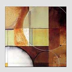 Hånd-malede AbstraktEuropæisk Stil / Moderne Et Panel Canvas Hang-Painted Oliemaleri For Hjem Dekoration
