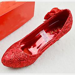 Women's Shoes Kitten Heel Heels/Platform/Comfort/Round Toe/Closed Toe Pumps/Heels Wedding/Party & Evening Red
