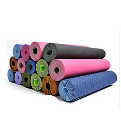 Tapis de Yoga ( Rose/Bleu/Vert/Orange/Violet , TPE ) 4.0/6/8.0