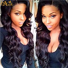 """8 """"-26"""" גל שיער גוף בתולה פרואני צבע פאת תחרה מלאה glueless שחור עם תינוק שיער לנשים שחורות"""