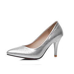 Women's Shoes Cone Heel Comfort / Pointed Toe Heels Wedding / Outdoor / Dress / Casual Blue / Red / Silver / Gold