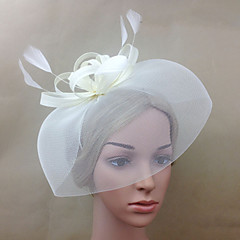 Women Feather/Net Elegant Matching Flowers/Birdcage Veils With Wedding/Party Headpiece(More Colors)