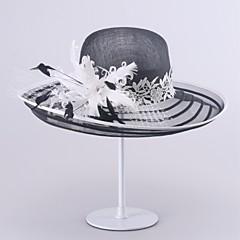 Mulheres Cestaria Capacete-Casamento / Ocasião Especial Chapéus 1 Peça Head circumference  57cm