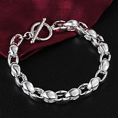 Unisex Sterling Silver Chain With Non Stone Bracelet