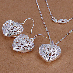 MISSING U Women Cute / Party Silver Plated / Brass / Cubic Zirconia Necklace / Earrings Jewelry Sets