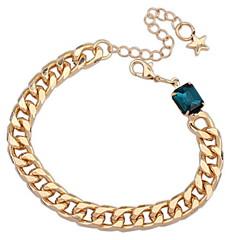 Women's Alloy European And American Fashion Chain Single Diamond Bracelet