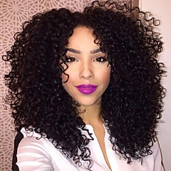 cabelo humano bizarro cor natural, encaracolado brasileiro não transformados 10-28inch 130% peruca densidade perucas completa para as