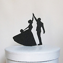 The Dancing Bride and Groom Cake Topper