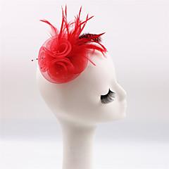 Dame / Blomsterpige Fjær / Polyester Headpiece-Bryllup / Spesiell Leilighet / Avslappet / Utendørs fascinators 1 Deler