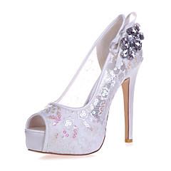 Ženske cipele - Sandale - Vjenčanje / Zabava i večer - Čipka - Stiletto potpetica - Otvorene salonke -Crna / Plava / Ružičasta / Crvena /