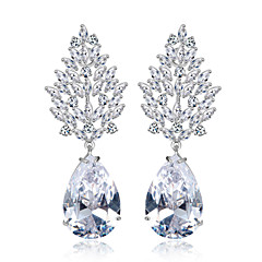 Teemi Wholesale Brand New Arrival Luxury Wedding Dinner Party Jewelry AAA Cubic Zirconia Cluster Dangle Earring