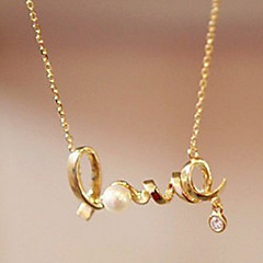 Lucky Doll Women's  Love Necklace