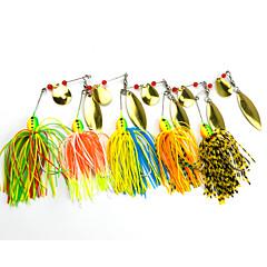 """5 pcs Spinnerbaits leurres de pêche Leurre Buzzbait & Spinnerbait Vert Orange Jaune Rouge Bleu g/Once mm/2-3/4"""" pouce,Plastique dur Métal"""