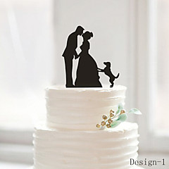 The Kissing Bride and Groom Cake Topper