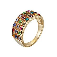 Ring Women's Cubic Zirconia Alloy Alloy 6 Gold