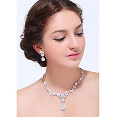 Conjunto de jóias Mulheres Aniversário / Casamento / Noivado / Presente / Festa / Diário / Ocasião Especial Conjuntos de Joalharia