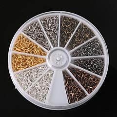 beadia 1 db divat ékszerek megállapításait 4x8mm szem csapok különböző színben (kb 600pcs)