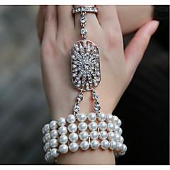 Vintage / Fest / Kontor / Casual Legering / Imitation af ægte perle Lænke/kæde / Vedhæng / Stretch / Perle Armbånd