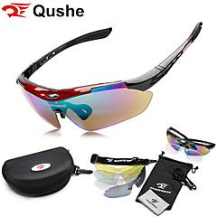 Óculos de Sol Unissex's Esportivo / Fashion Quadrangular Preta / Branco / Vermelho / Azul Ciclismo / Acampar e Caminhar / Motocicletas