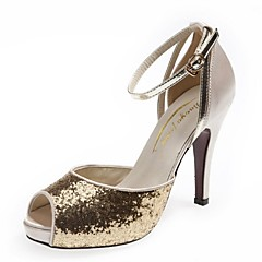 Women's Spring / Summer / Fall Heels / Peep Toe / Platform Glitter Wedding / Office & Career / Dress / Party & Evening Stiletto Heel
