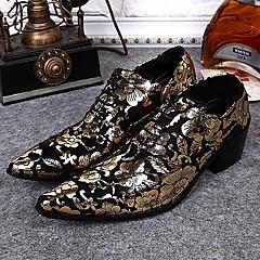 אוקספורד גברים של נעליים חתונה / מסיבה וערב עור זהב