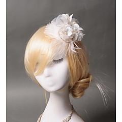 Femme Plume / Strass / Tulle / Imitation de perle Casque-Mariage / Occasion spéciale / Décontracté Coiffure 1 Pièce