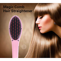 2015 Professional Straightening Irons Comb With LCD Display Electric Hair Straightening Brush Comb