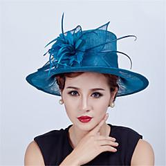 Sinamay Feather  Flowers  Derby Hat Fascinators Wedding Church Hat for Women