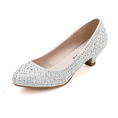 Women's Shoes Synthetic Chunky Heel Comfort Round Toe Pumps Wedding and Party More Colors available
