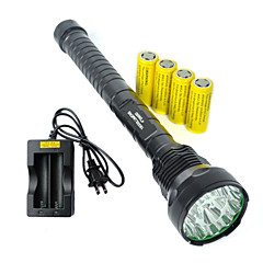 Torce LED LED 5 Modo 19000 Lumens Impermeabili / Ricaricabile / Resistente agli urti / Emergenza /  Strike Bezel / Compatto Cree XM-L T6