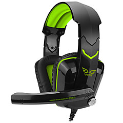 Over-Ear-Spiel Gaming-Headset leuchtenden drahtgebundenen Kopfhörer mit Bügel mit Mikrofon Lautstärkeregler-Gaming-Noise-Cancelling-