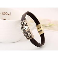 European and American fashion jewelry vintage leather bracelets leather jewelry(bracelet)