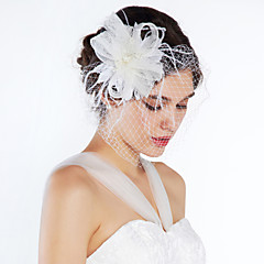 Femme / Jeune bouquetière Tulle Casque-Mariage / Occasion spéciale / Décontracté Fleurs