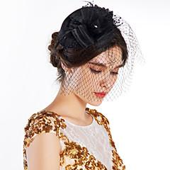 Femme Plume / Tulle / Filet Casque-Mariage / Occasion spéciale / Extérieur Fleurs / Chapeau 1 Pièce