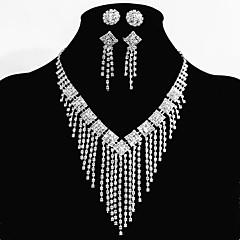 Conjunto de jóias Mulheres Aniversário / Casamento / Noivado / Festa / Ocasião Especial Conjuntos de Joalharia Liga StrassColares /