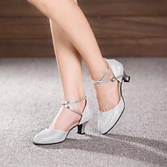 Non Customizable Women's Dance Shoes Leather / Patent Leather Leather / Patent Leather Latin / Jazz Heels Cuban HeelBeginner /