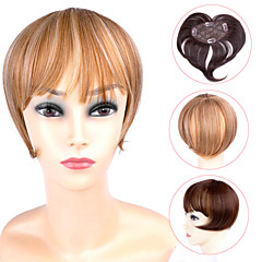 Ty.hermenlisa Clip in Hair Bang Synthetic Heat Resistant Fiber Fringe Hair Extensions Hairpieces,1 Pc,39g